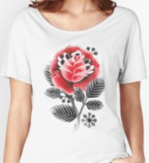 Watercolor old school flowers Women's Relaxed Fit T-Shirt