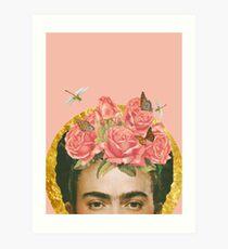 Frida Kahlo Peachy Art Print