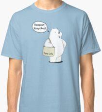 Tote Life Respect - We Bare Bears Cartoon  Classic T-Shirt
