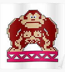 Donkey Kong Game Hero Poster