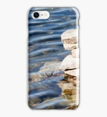 Norway trolls reflected in water - pyramids, laid out of stones iPhone Case/Skin