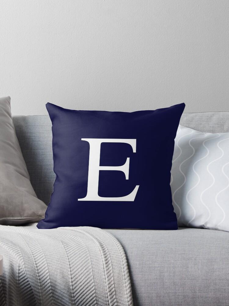 Navy Blue Basic Monogram E by rewstudio