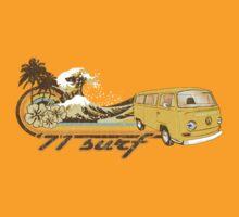 Volkswagen Kombi Tee shirt - 71 Surf by KombiNation
