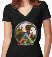 Ark Women's Fitted V-Neck T-Shirt
