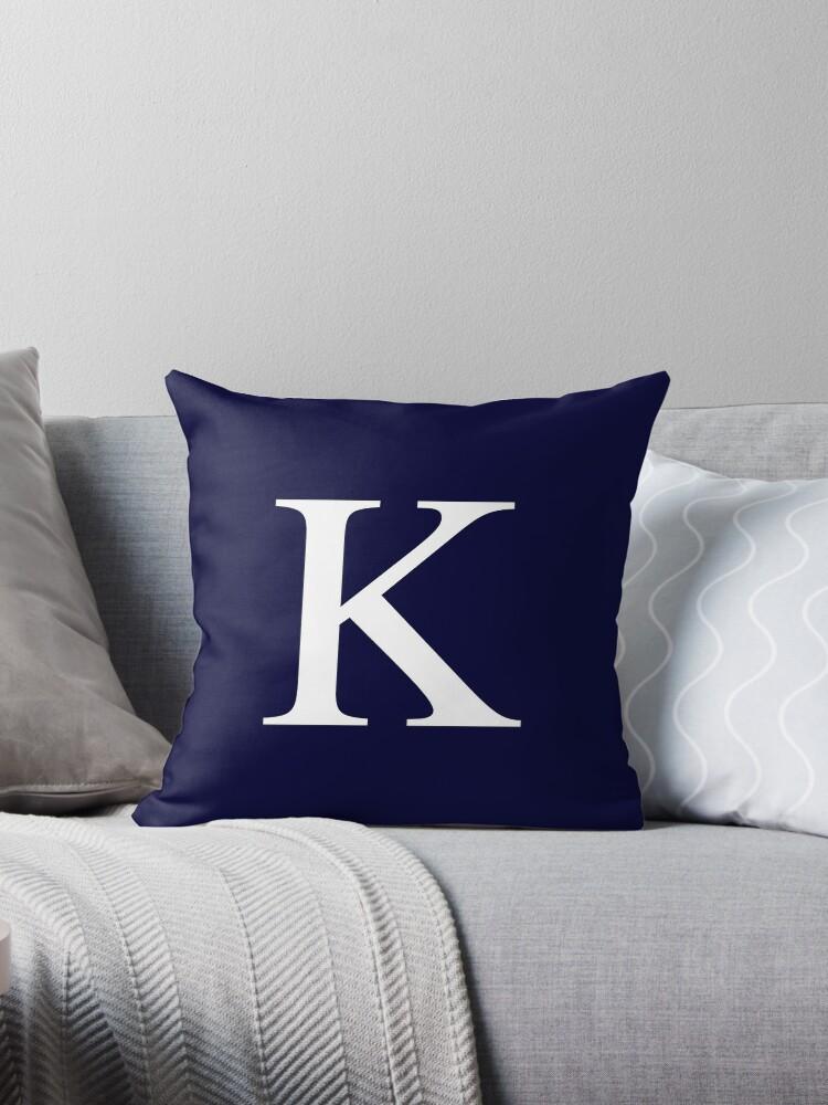 Navy Blue Basic Monogram K by rewstudio