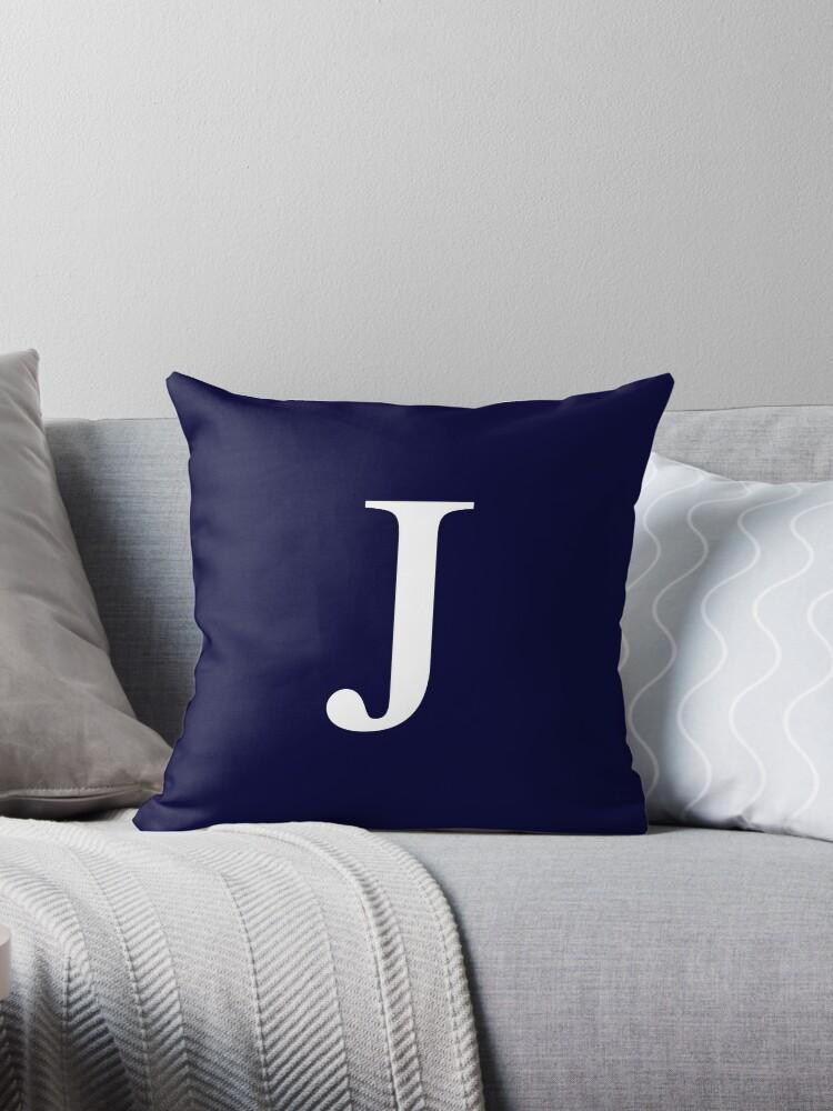 Navy Blue Basic Monogram J by rewstudio