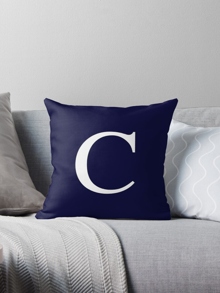 Navy Blue Basic Monogram C by rewstudio