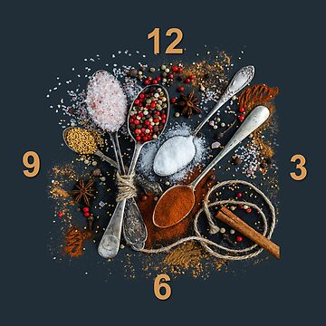 Kitchen Spices Wall Clock by Whimsydesigns