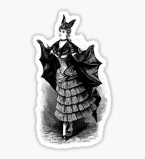 Victorian Bat Girl Costume Sticker