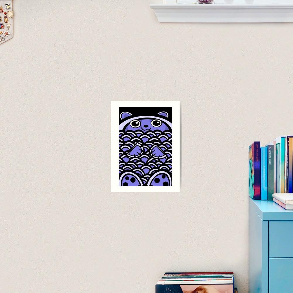 Blue Asian Bear Art Print