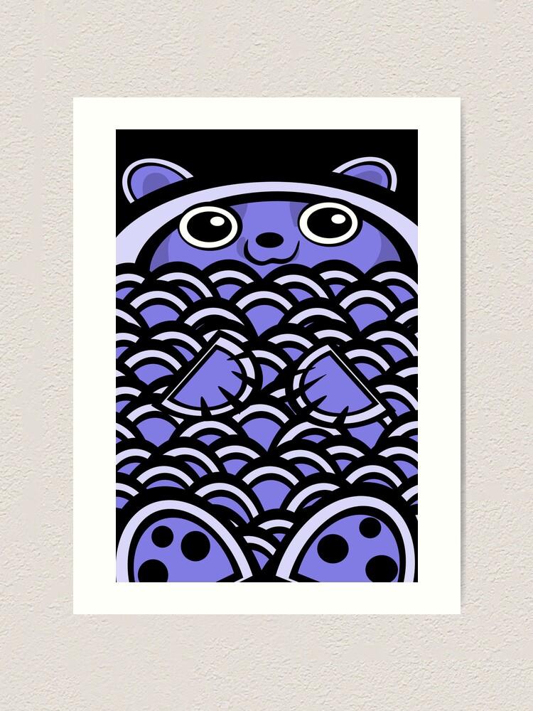 Alternate view of Blue Asian Bear Art Print