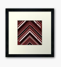 Geometric Geode - Red/Black Distressed Framed Print
