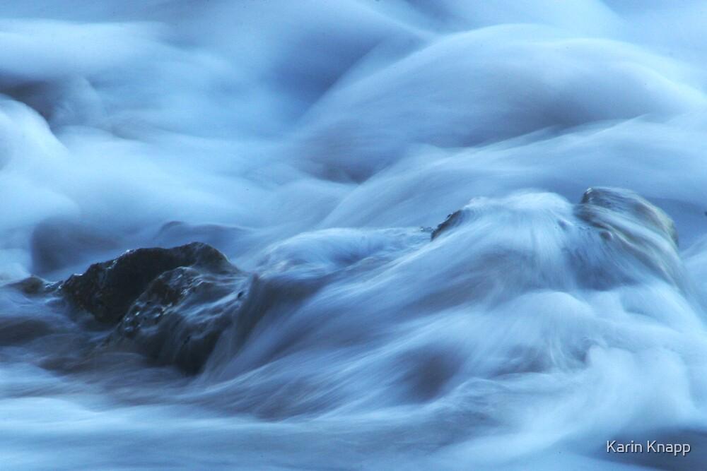 Water over rocks by Karin Knapp