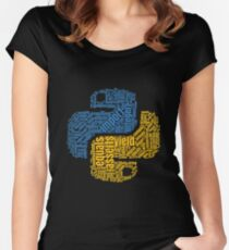 PYTHON Programming Wordcloud Women's Fitted Scoop T-Shirt