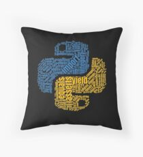 PYTHON Programming Wordcloud Throw Pillow