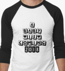A Baby is Coming 2018 Men's Baseball ¾ T-Shirt