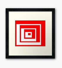Abstract geometric pattern - red and white. Framed Print