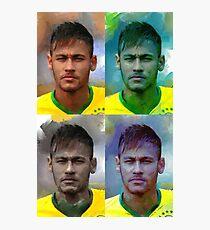Neymar four Photographic Print