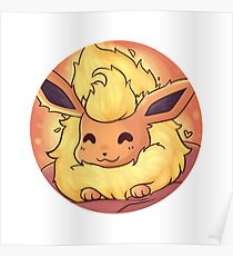Resting Flareon Poster