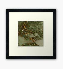 Autumn Marble Pattern 1 Framed Print