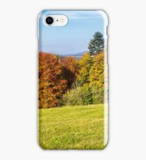trees on autumn meadow in mountains iPhone Case/Skin