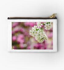 flowers of apple tree on a bulr background Studio Pouch