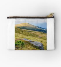 mountain landscape with stone and peak Studio Pouch
