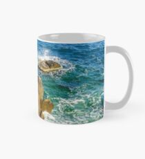 sea wave breaks about rocky shore Mug