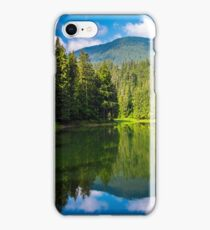 lake among the forest in mountains iPhone Case/Skin