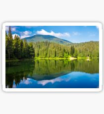 lake among the forest in mountains Sticker