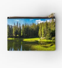 lake among the conifer forest Studio Pouch