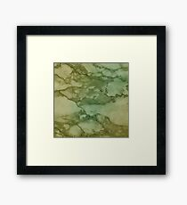 Autumn Marble Pattern 4 Framed Print