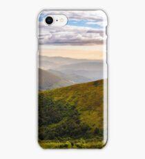 forest on hillside in morning light iPhone Case/Skin