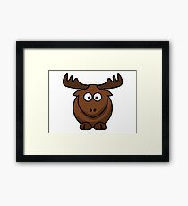 funny deer by remsoun Framed Print