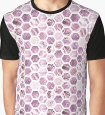 Rose hexagons Graphic T-Shirt