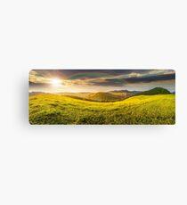 hillside meadow in high mountains Canvas Print