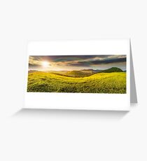 hillside meadow in high mountains Greeting Card