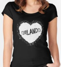 Orlando T-Shirt Funny Florida Gift Tee Women's Fitted Scoop T-Shirt