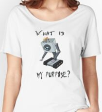 Funny Rick and Morty Shirt - What Is My Purpose? (All Sizes) -You Pass the Butter Rick & Morty T-shirt – Rick and Morty Gift - Butter Robot Women's Relaxed Fit T-Shirt