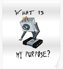 Funny Rick and Morty Shirt - What Is My Purpose? (All Sizes) -You Pass the Butter Rick & Morty T-shirt – Rick and Morty Gift - Butter Robot Poster