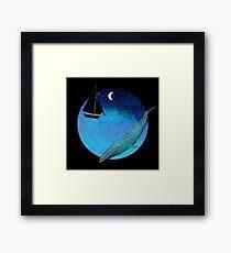 Magical Watercolor night Framed Print
