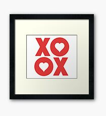 XOXO Hugs and Kisses Valentine's Day Framed Print