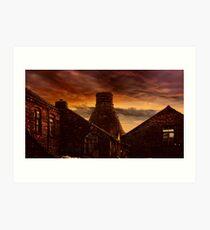 A Potteries Sunset Art Print