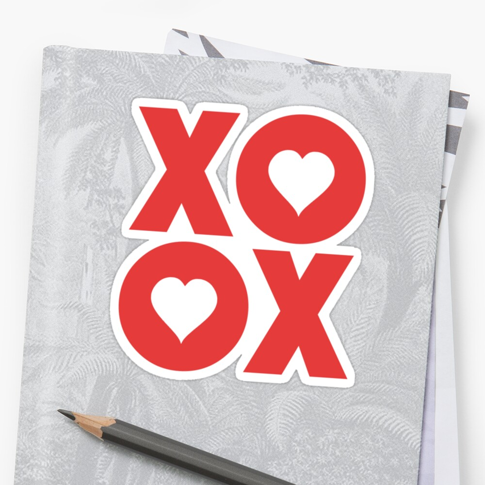 Xoxo Hugs And Kisses Valentines Day Stickers By Theshirtyurt