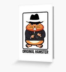 Original Hamster Funny Gangster- Mafia Machine Gun Greeting Card