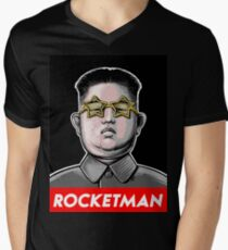 President Trump Called Kim Jong Un Rocketman so I made it a t shirt. Men's V-Neck T-Shirt