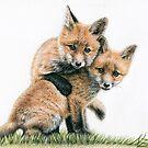 Playing Fox Kids - Spielende Fuchskinder by Nicole Zeug