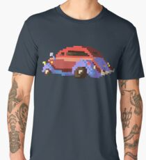 Red pixel retro car Men's Premium T-Shirt