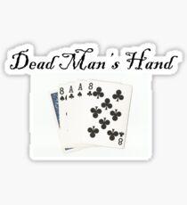 Dead Man's Hand Glossy Sticker