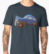 Blue pixel retro car Men's Premium T-Shirt